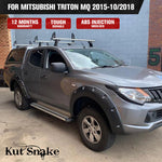 Kut Snake Flares for Mitsubishi Triton MQ 2015-10/2018 Full Set ABS - Sunyee