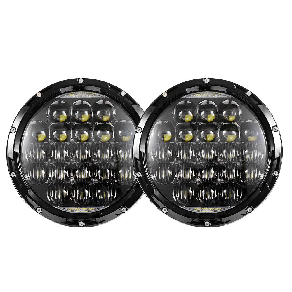 2x 7inch LED Headlights Insert Hi-Lo Beam DRL for Jeep Wrangler Patrol - Sunyee