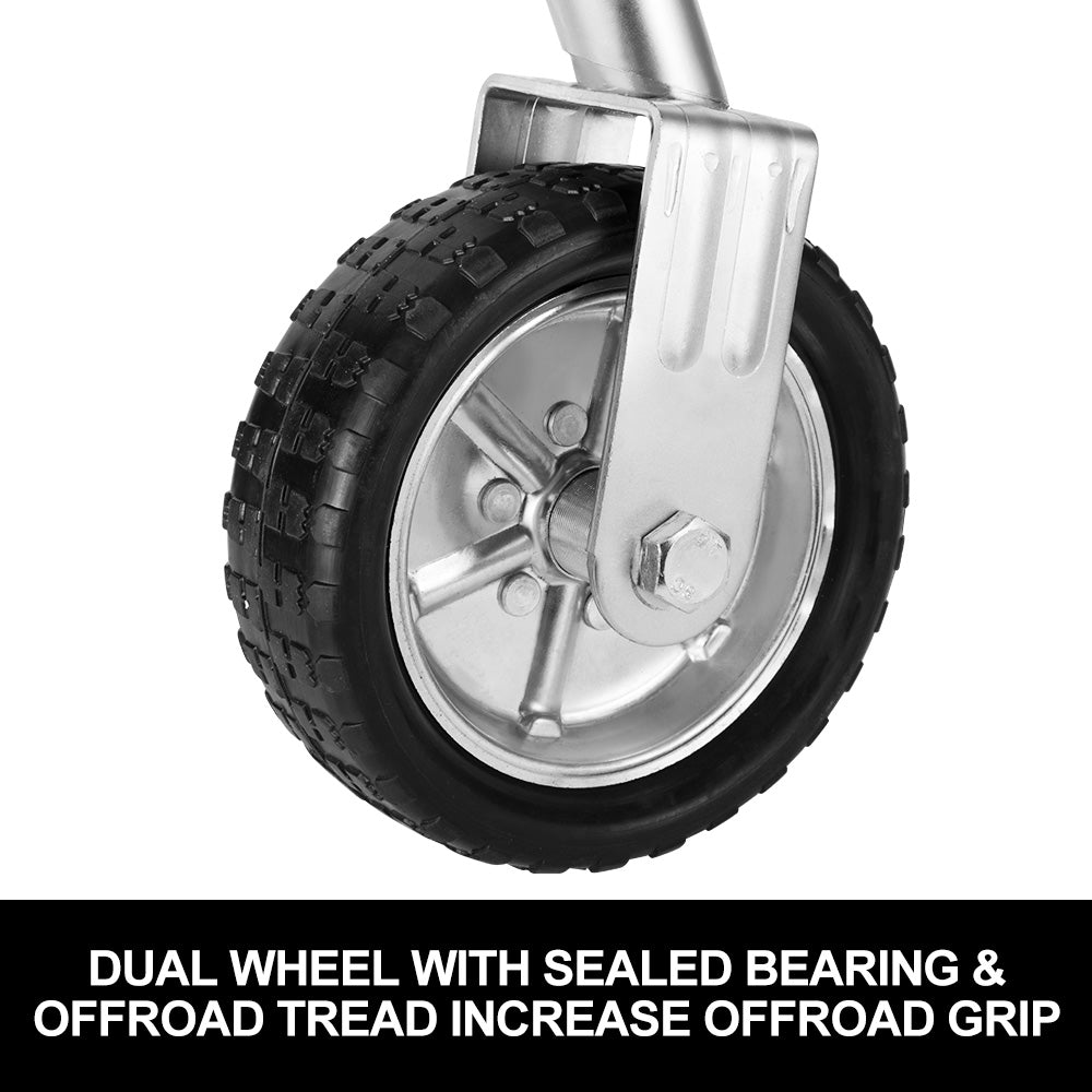 "Jockey Wheel 10"" Swing Up Solid Wheel 1000KG Caravan Boat Trailer - Sunyee"