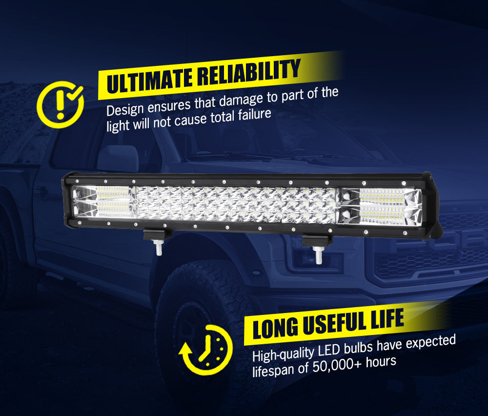 LIGHTFOX 20inch Led Light Bar 1 Lux @ 480M IP68 46800 Lumens - Sunyee