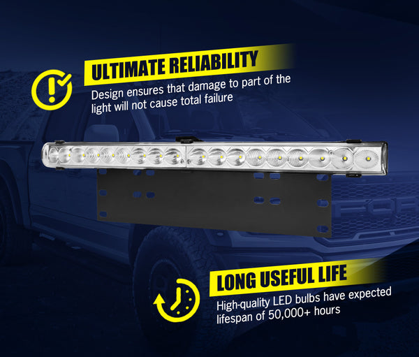 LIGHTFOX 20inch Led Light Bar 1 Lux @ 498M IP68 39800 Lumens