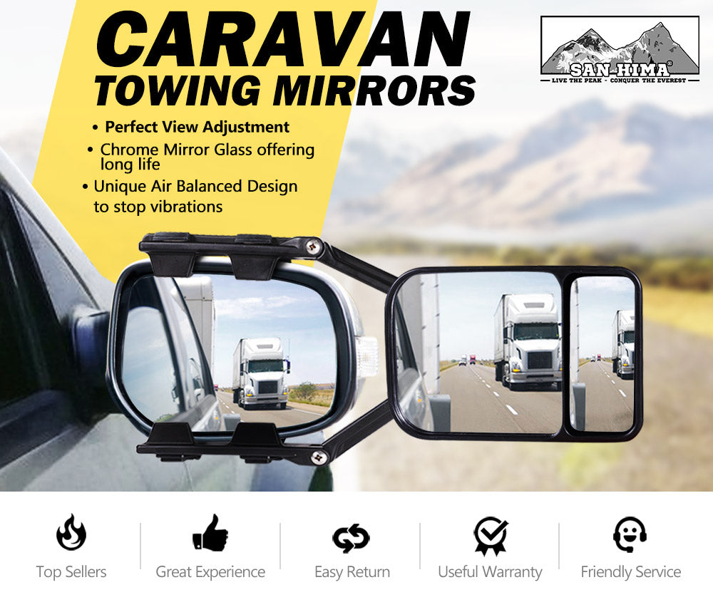 Towing Mirror Clip On Universal Multi Trailer Caravan Car Truck - Sunyee