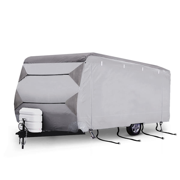 SAN HIMA 20-22ft 4 Layer Caravan Campervan Cover Heavy Duty UV Carry - Sunyee