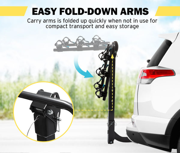 SAN HIMA 3 Bicycle Bike Carrier Car Rear Rack Foldable 2