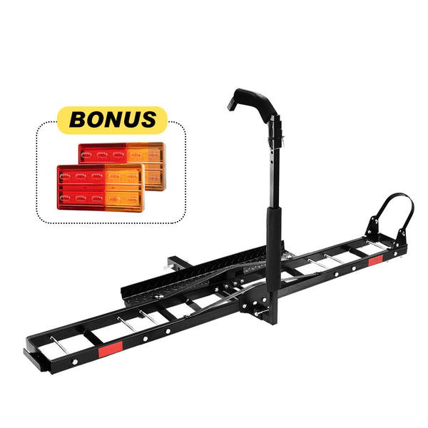 "Motorcycle Carrier Motorbike Rack 2"" Towbar Arm Rack Dirt Bike Ramp - Sunyee"