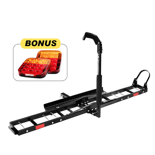 "Motorcycle Motorbike Carrier Rack 2"" Towbar Rack Dirt Bike Ramp Steel - Sunyee"