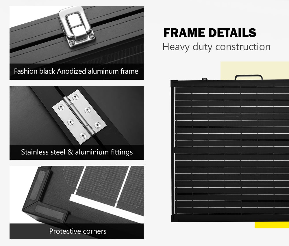 ATEM POWER Lightweight 12V 200W Folding Solar Panel Kit Mono Flexible - Sunyee