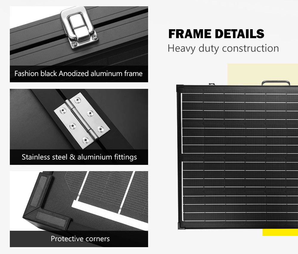 ATEM POWER 250W Folding Solar Panel Kit 12V Caravan Camping Power Mono