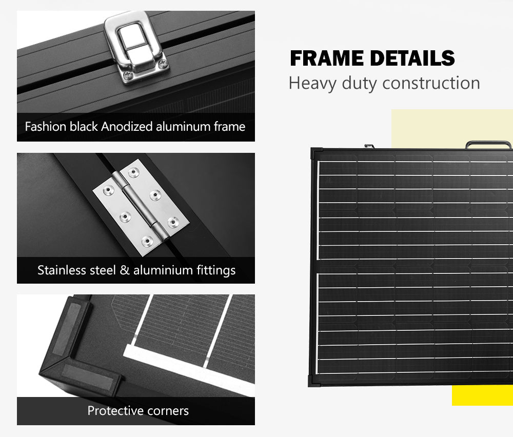 ATEM POWER 300W Folding Solar Panel Kit 12V Caravan Camping Power Mono - Sunyee