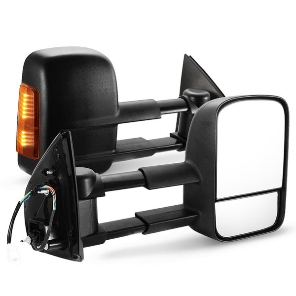 Pair Towing Extendable Side Mirrors for HOLDEN COLORADO 2012 - ON - Sunyee