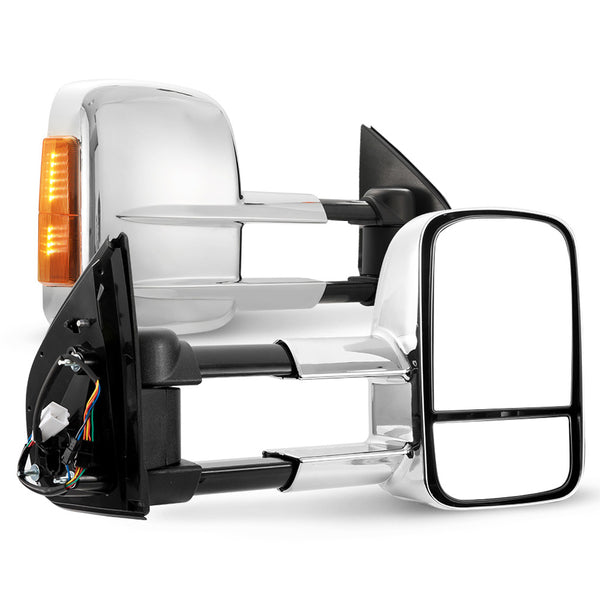 Pair Towing Extendable Side Mirrors for HOLDEN COLORADO 7 2012 - ON - Sunyee