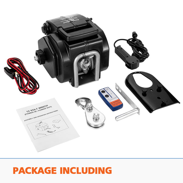 6500LBS 12V Electric Boat Winch Portable Detachable 3000KG ATV 4X4 4WD - Sunyee