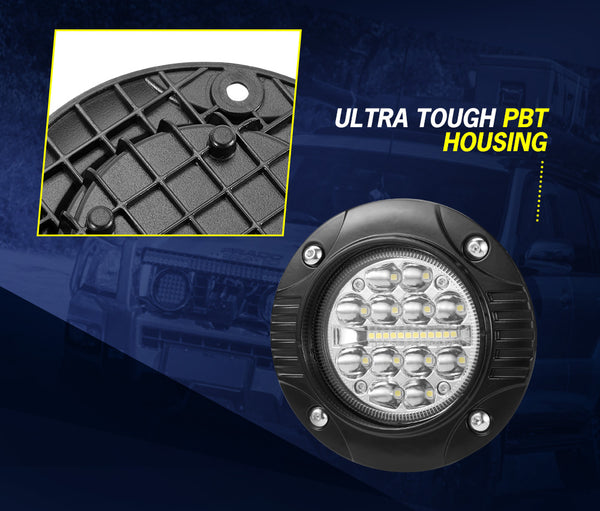 LIGHTFOX 5inch Flush Mount Led Light Bar 1Lux @240M IP68 24000 Lumens - Sunyee