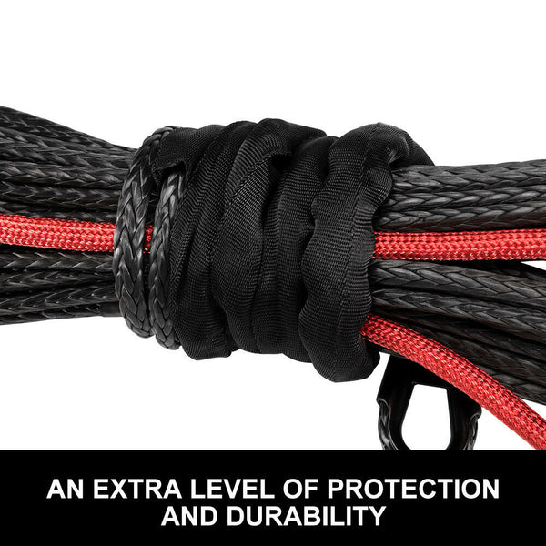 Winch Rope 10MM x 30M Dyneema SK75 hook Synthetic Car Tow Recovery