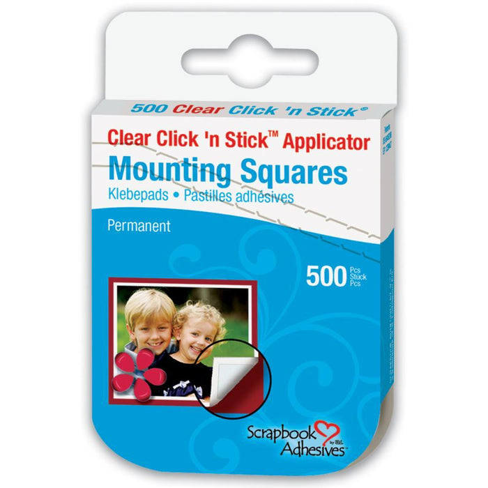 3L Click n Stick Applicator Mounting Squares - Permanent Clear
