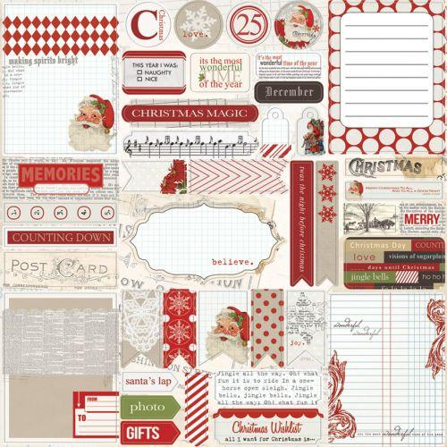 Teresa Collins - Santa's List - Die Cut Accessories