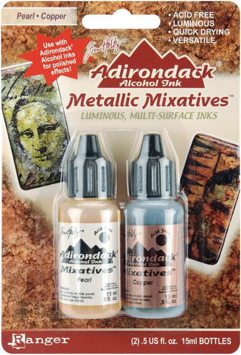 Adirondack Alcohol Ink Metallic Mixatives - Pearl / Copper