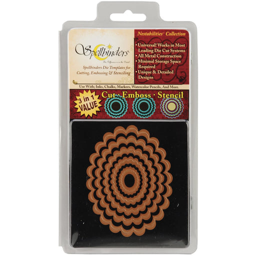 Spellbinders Die - Nestabilities - Classic Scalloped Oval Small