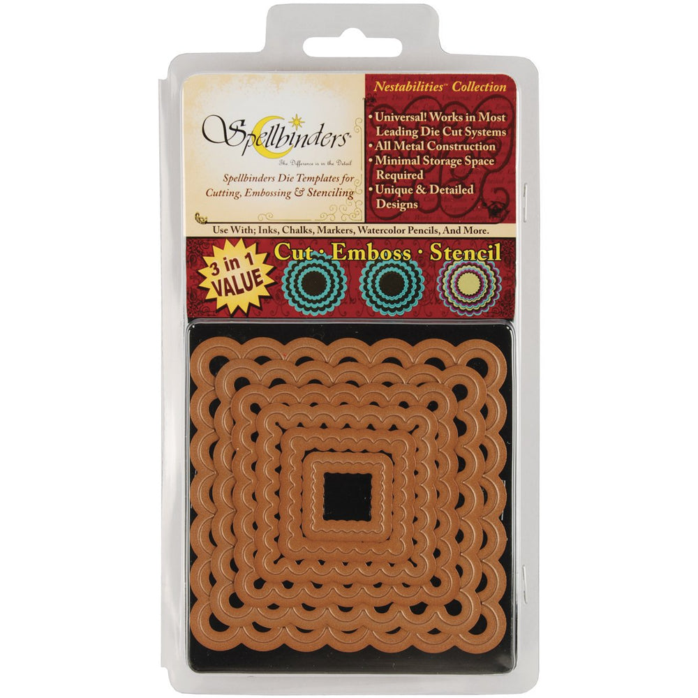 Spellbinders Die - Nestabilities - Classic Scallop Square Small