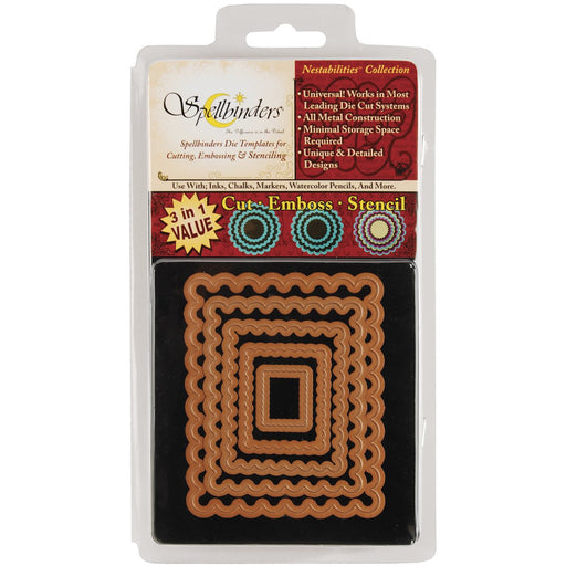 Spellbinders Die - Nestabilities - Classic Scalloped Rectangle Small