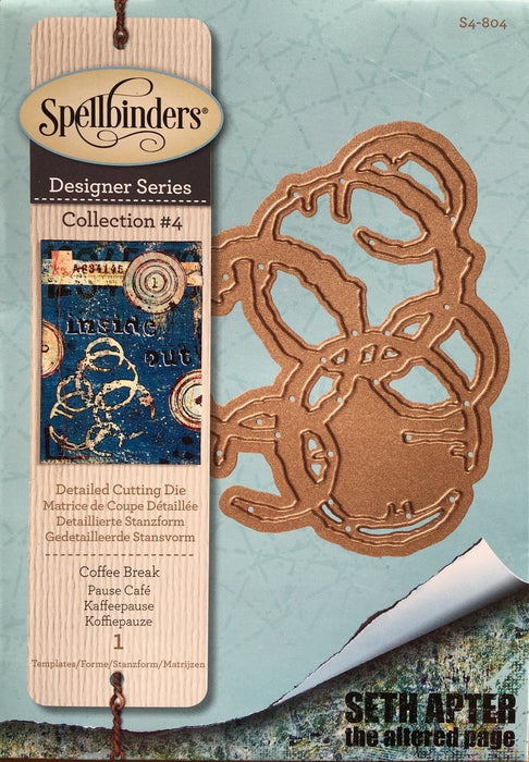 Spellbinders Die - Shapeabilities - Seth Apter - Coffee Break