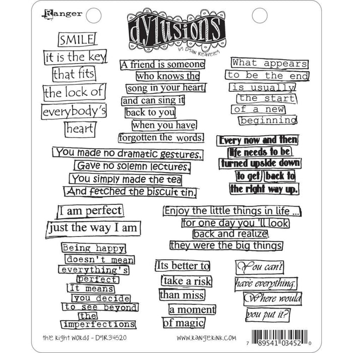 Dylusions Cling Stamps - The Right Words