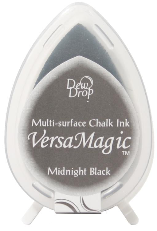 VersaMagic Multi Surface Dew Drop Chalk Inkpad - Midnight Black