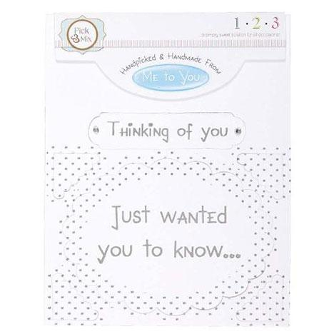 Me To You Card Greeting - Thinking of You