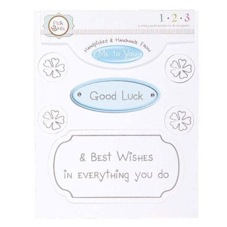 Me To You Card Greeting - Good Luck