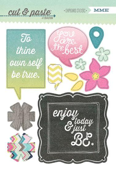 MME - Cut & Paste Adorbs Chipboard Stickers - Be
