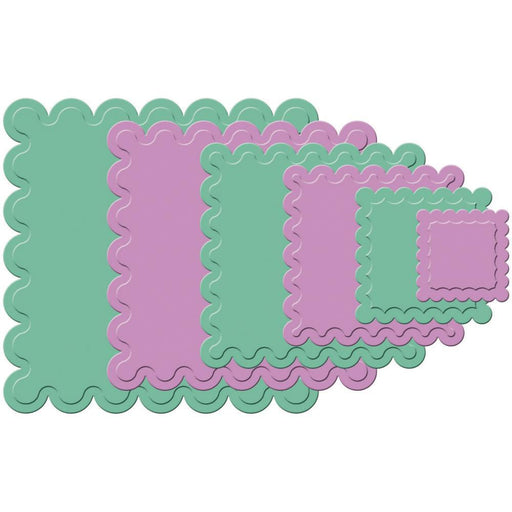 Spellbinders Die - Nestabilities - Classic Scalloped Squares Large
