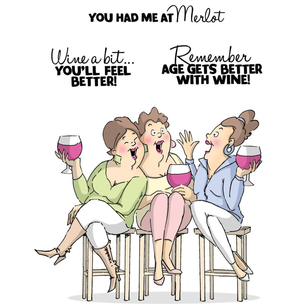 Art Impressions Girlfriends - Wine Tasters set