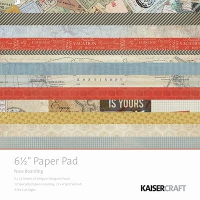 "Kaisercraft - 6.5"" Paper Pad - Now Boarding"