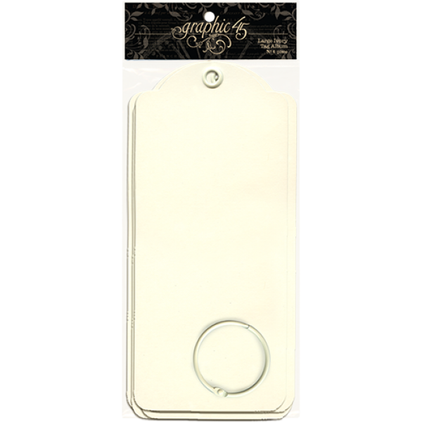Graphic 45 - Large Tag Albums - Ivory