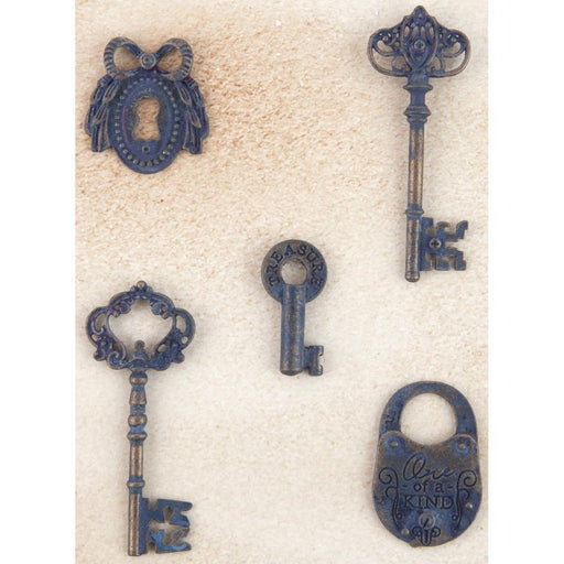 Prima Metal Patina Trinkets - Keys