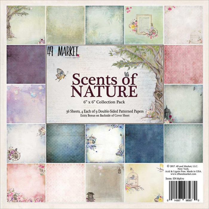 "49 & Market - Scents of Nature Collection - 6"" p.pad"
