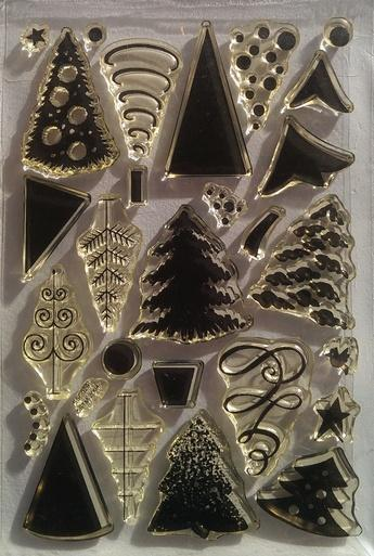 Stampendous Clear Stamp - Christmas Trees