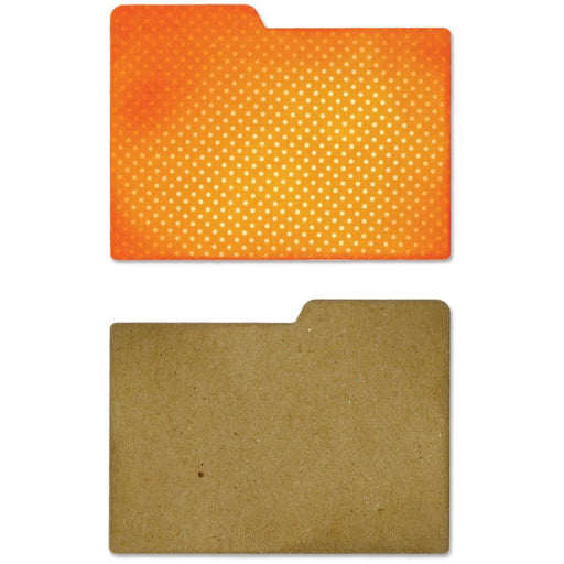 Sizzix Thinlits  - File Dividers, Left & Right Tab -  Jillibean Soup