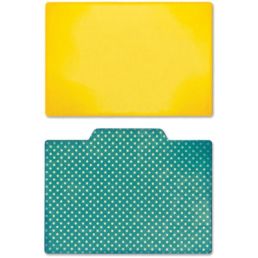Sizzix Thinlits  - File Dividers, Plain & Middle Tab -  Jillibean Soup
