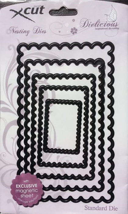 Docrafts Xcuts - Nesting Scalloped Rectangle