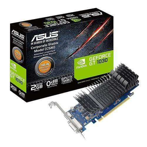 ASUS Tarjetas de video Tarjeta De Video Asus Gt1030-2G-Csm 2Gb Gddr5 64Bit Dvi/Hdmi