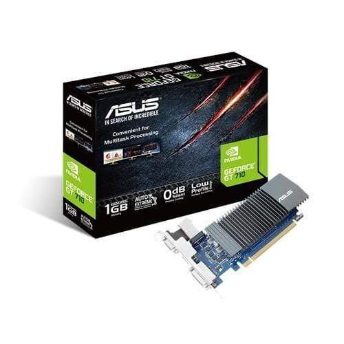 ASUS Tarjetas de video Tarjeta De Video ASUS NVIDIA GeForce GT710, 1gb Gddr5, 32bits, Pci-e, Bajo Perfil, (90yv0al2-m0na00)
