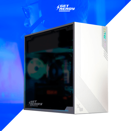 Get Ready Computers GAMING Blanco PC Gamer Galaxy/Intel Core i5 9600KF/RTX 2060/16GB/240GB SSD+1TB HDD/600W