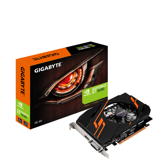 GIGABYTE Tarjetas de video Tarjeta De Video Gigabyte NVIDIA GeForce GT 1030 2gb, 2 Gb GDDR5, 4096 X 2160 Pixeles, Pci Express 3.0, 1-hdmi, 1-dvi (gv-n1030oc-2gi)