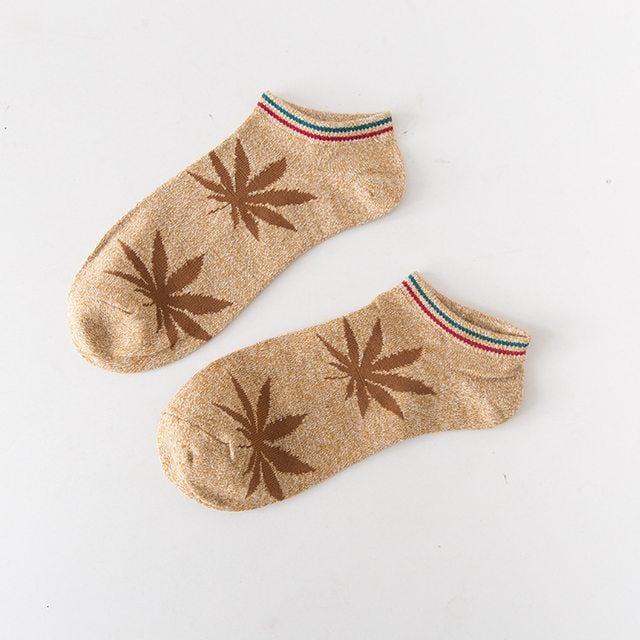 Weed Leaf Socks - Unisex Casual Cotton Socks - Leaf n Peace