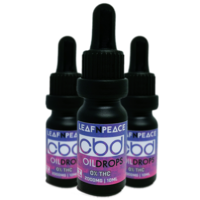 2000mg Pure CBD Oil (10ml) - 20% - Leaf n Peace
