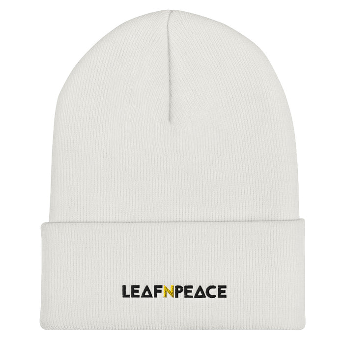 Cuffed Beanie Hat - Leaf n Peace