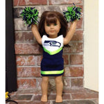 Cheerleader sewing pattern for 18 inch doll, snugglepuppyapplique.com