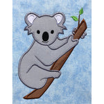 Realistic Koala applique embroidery design, Koala is clinging to a branch