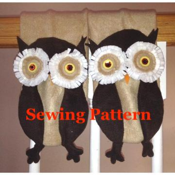 Owl Scarf Sewing Pattern, snugglepuppyapplique.com